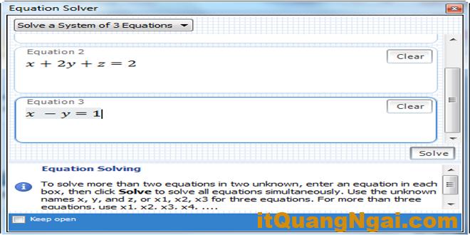 Hướng dẫn sử dụng phần mềm giải toán Microsoft Mathematics 4.0