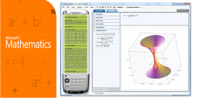 Phần mềm giải toán Microsoft Mathematics 4.0