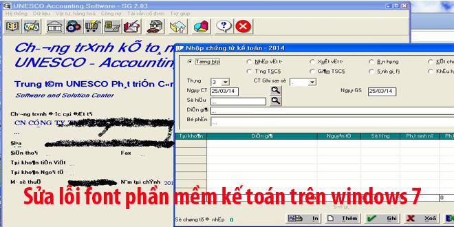 Chỉnh Font chữ cho các phần mềm viết bằng Visual Foxpro