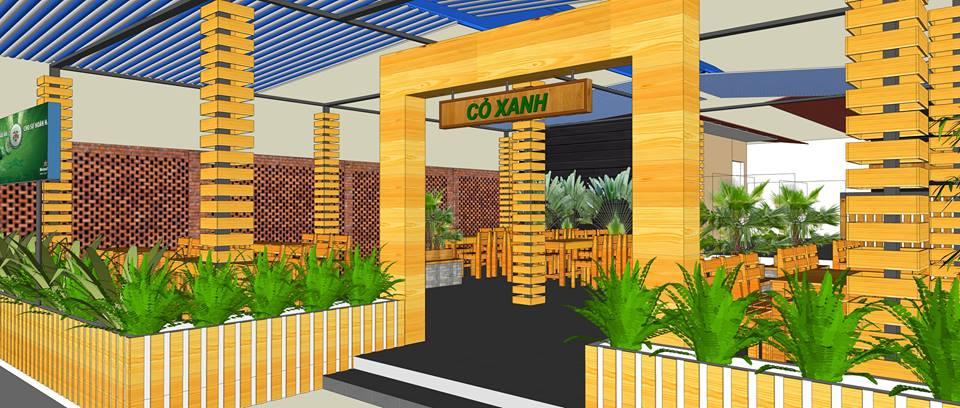 Thiết kế kiến trúc nhà hàng Quảng Ngãi