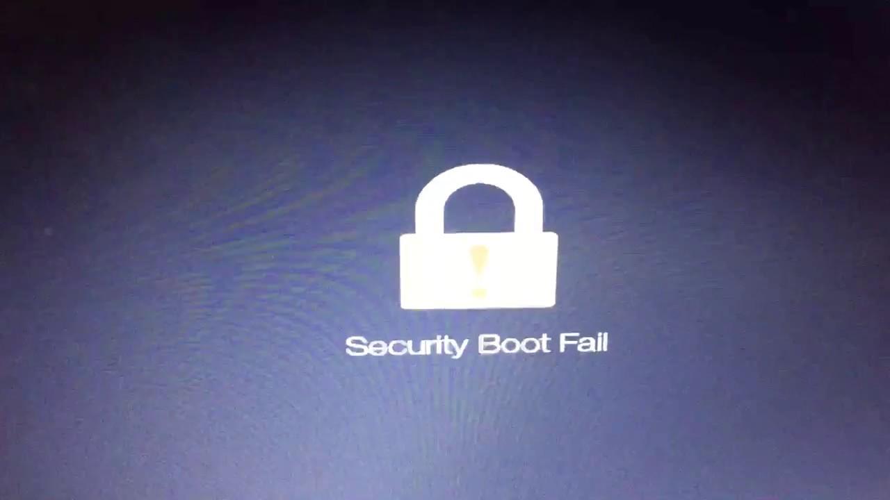 sua-loi-secure boot fail-laptop-acer